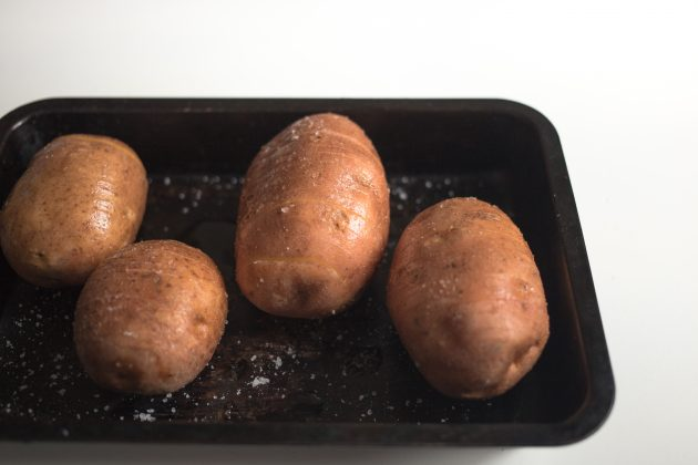 картофель хассельбек: масло