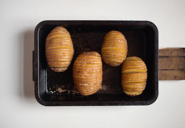 картофель хассельбек: соль