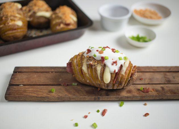 картофель хассельбек: готовое блюдо