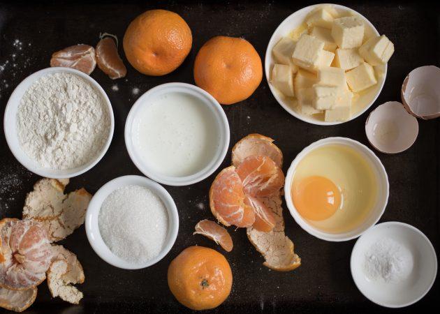 мандариновые кексы: ингредиенты