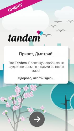 tandem: приветствие