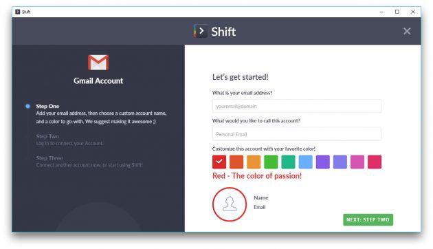 Shift: главная страница