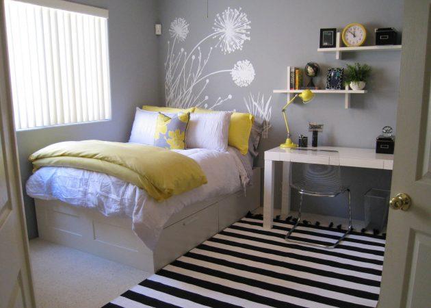 Маленькая спальня: цветовой акцент