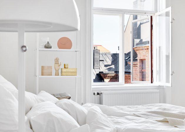 Маленькая спальня: белый цвет