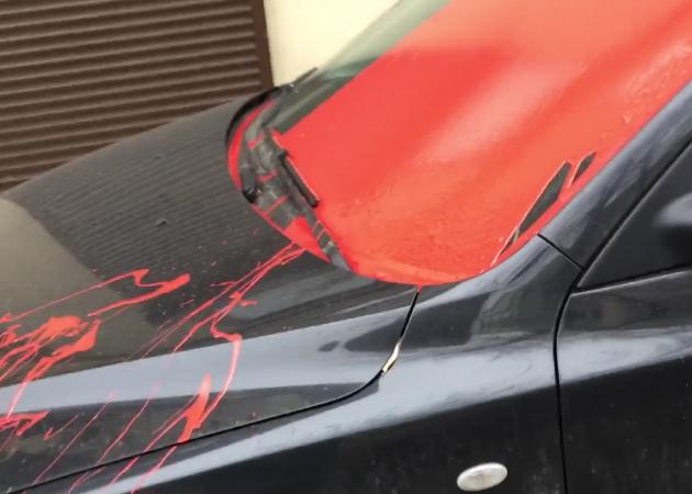 Что делать, если автомобиль облили краской