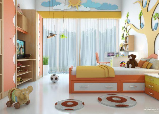 Интерьер детской: яркие цвета