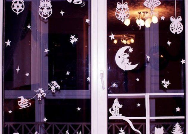 Как украсить дом на Новый год: окна