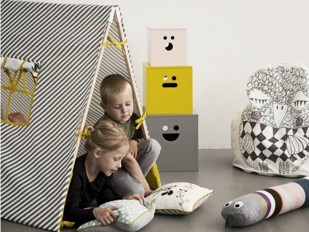 Дизайн детской комнаты: палатка для ребёнка