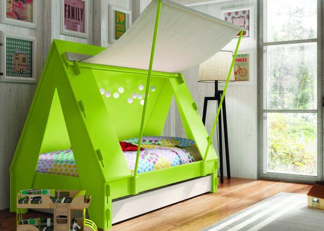 Интерьер детской: необычная кровать