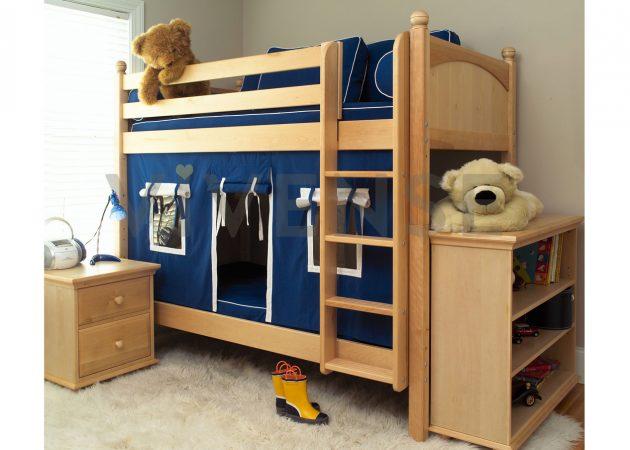 Интерьер детской: двухъярусная кровать