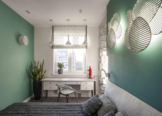 Узкая комната: выбирайте непрямоугольные предметы интерьера