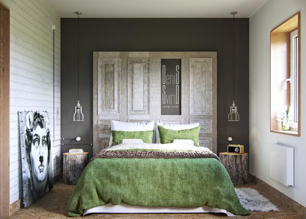 Маленькая спальня: оригинальность