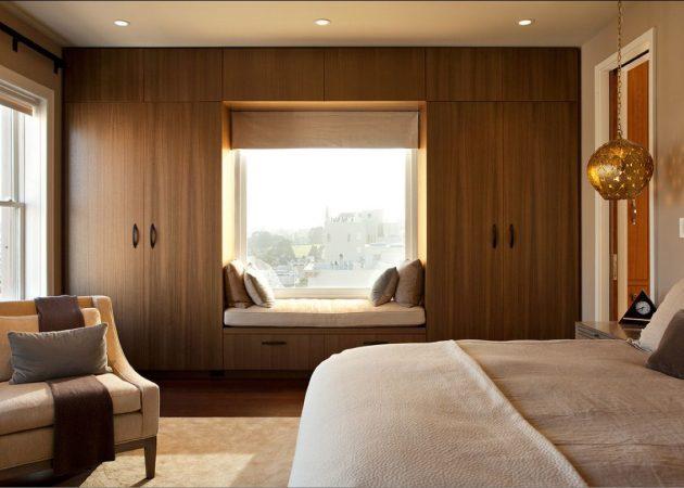 Маленькая спальня: используем подоконник