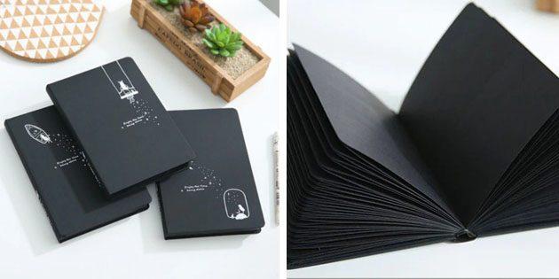 Что подарить коллегам на Новый год: Чёрный блокнот
