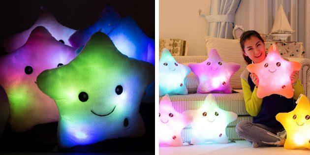 Что подарить коллегам на Новый год: Светящиеся подушки