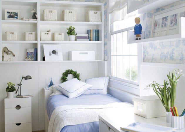 Дизайн маленькой спальни: выбираем шторы