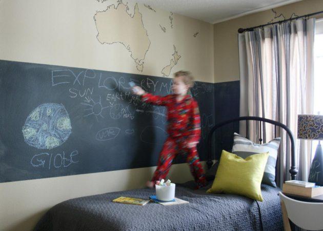 Дизайн детской: стена для рисования