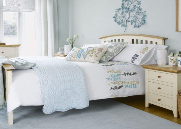 Маленькая спальня: цвет стен