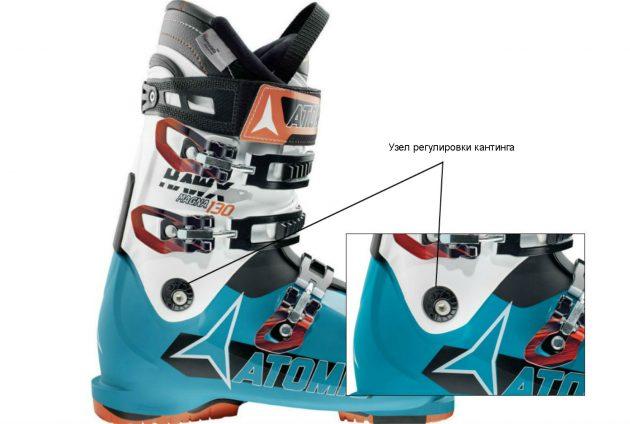 Как выбрать горнолыжные ботинки: Узел регулировки кантинга