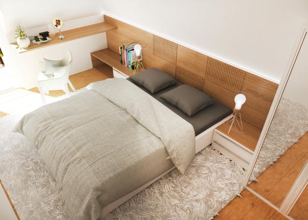 Маленькая спальня: зеркало