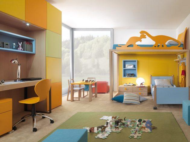 Интерьер детской комнаты: зонирование