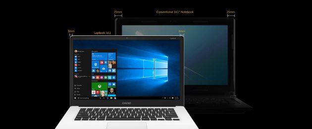 Chuwi LapBook 14.1: экран