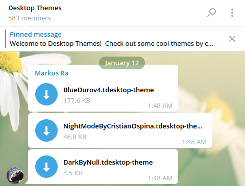 Telegram theme file