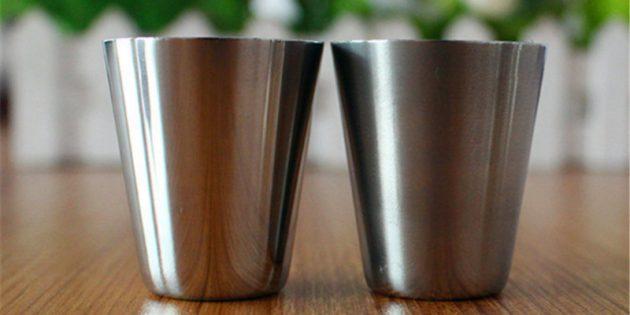 металлический стаканчик