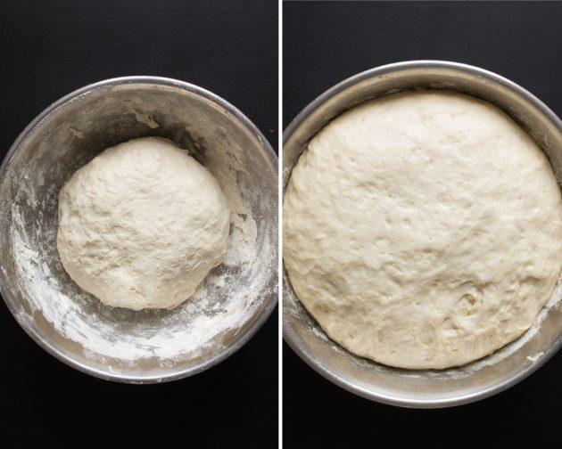 Индийские наан с творожной начинкой: тесто