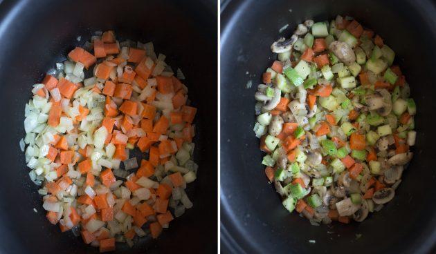 Как сделать рагу из фасоли: добавьте остальные овощи, принимая во внимание время их приготовления