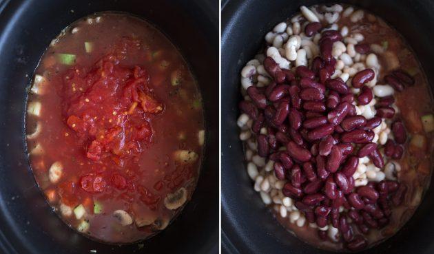 Как приготовить рагу из фасоли: овощное ассорти дополните помидорами в собственном соку