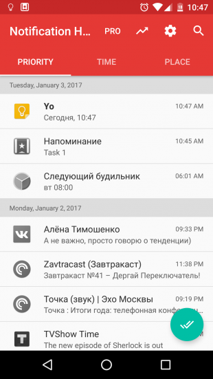 Notification Hub: Priority