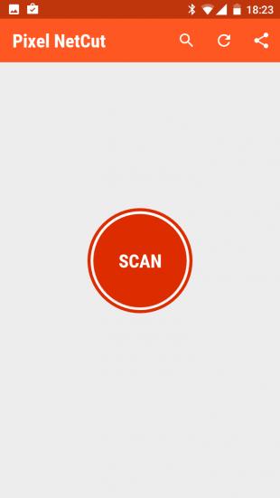 Pixel NetCut scan