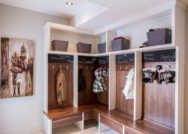 Дизайн прихожей: угловые шкафы