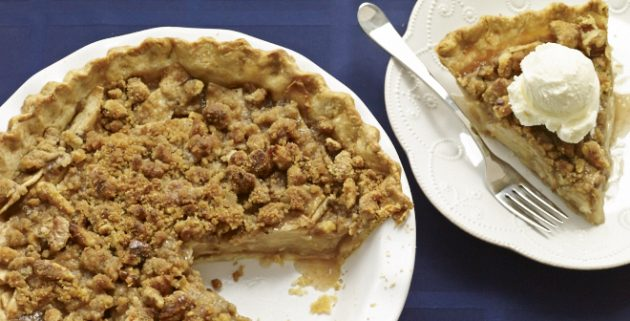 Быстрый пирог к чаю: Яблочно-ореховый пирог