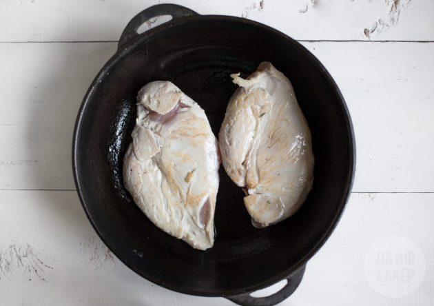 как приготовить куриное филе: обжарка