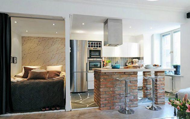 Дизайн квартиры-студии: создание ниши