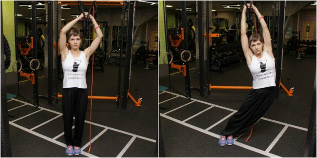 петли для тренировок: наклоны