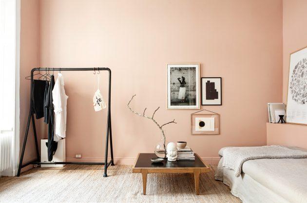 Дизайн квартиры-студии: открытая вешалка