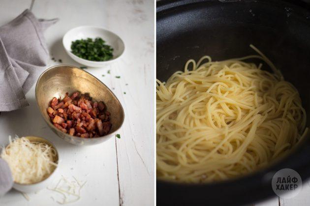 Быстрый вариант ужина: паста карбонара за 15 минут