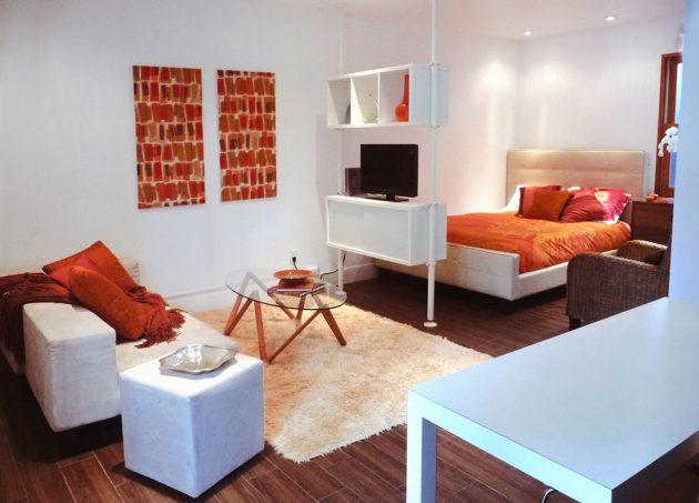 Дизайн квартиры-студии: Мебель оптимального размера