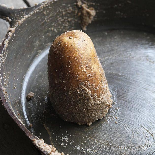 как избавиться от ржавчины: соль и картофель