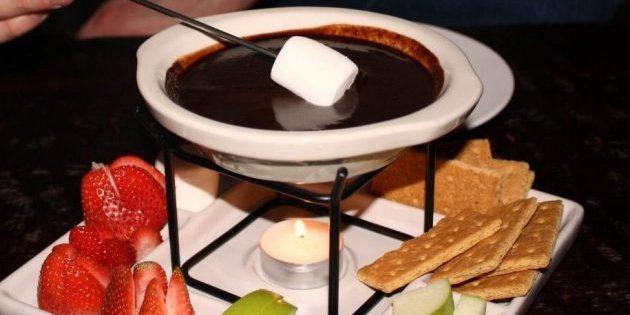 горький шоколад: шоколадное фондю с апельсином