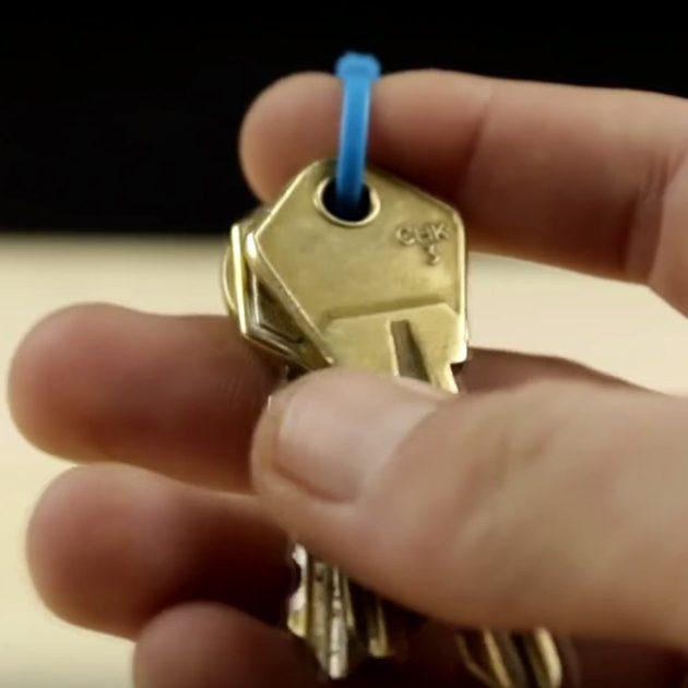 Кольцо для ключей своими руками