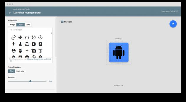 Android Asset Studio: создание значков