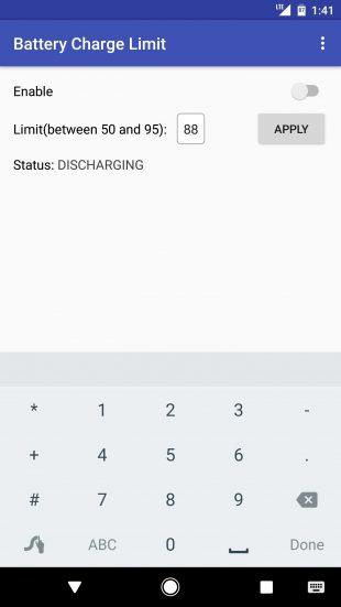 Battery Charge Limit: настройки 2
