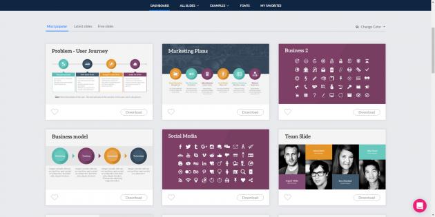 Онлайн-конструкторы презентаций: SlideCamp