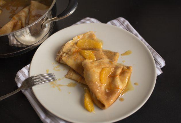 французские блинчики: готовое блюдо