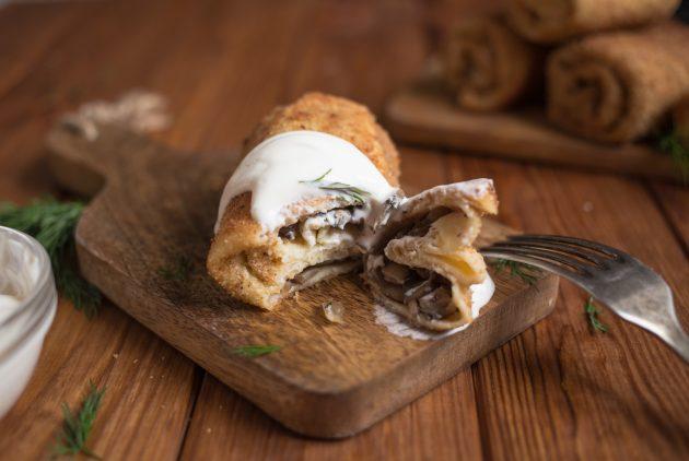 крокеты из блинов: готовое блюдо
