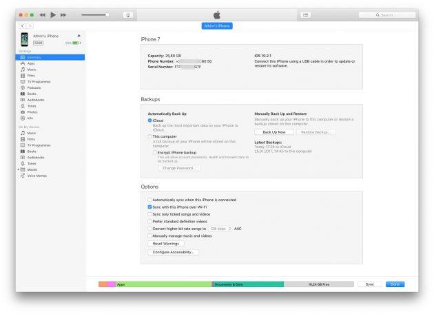 Как отличить оригинальный iPhone от подделки: iTunes